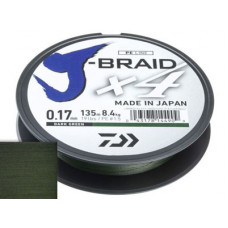 Шнур Daiwa J-Braid X4 Dark Green 0.33мм 135м