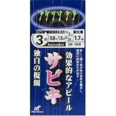 Сабики Hayabusa Version - 10 № 2-0.6-1 (1.00м; отводной - 2см, флюр) 4кр