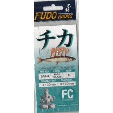 Самодур Fudo SM-4 №6 Koaji Douchi никель (леска 0,14 - 0,12; поводки 2 см ч/з 20 см) 1/50
